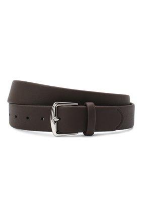 Мужской кожаный ремень LORO PIANA темно-коричневого цвета, арт. FAL2923 | Фото 1