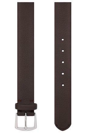 Мужской кожаный ремень LORO PIANA темно-коричневого цвета, арт. FAL2923 | Фото 2