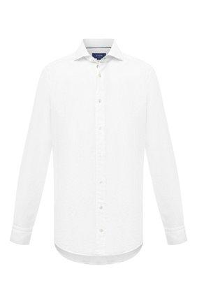 Мужская рубашка изо льна и хлопка ETON белого цвета, арт. 1000 01526 | Фото 1