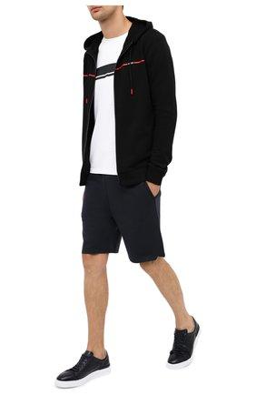 Мужская хлопковая толстовка HUGO черного цвета, арт. 50431475   Фото 2