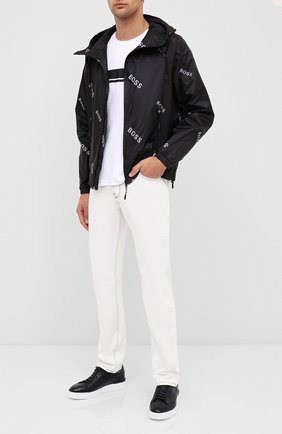 Мужская куртка BOSS черно-белого цвета, арт. 50435752 | Фото 2
