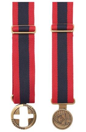 Мужской текстильный ремень DSQUARED2 красного цвета, арт. BEM0280 20200508 | Фото 2