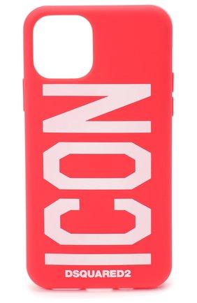 Мужской чехол для iphone 11 pro DSQUARED2 красного цвета, арт. ITM0093 55000001 | Фото 1