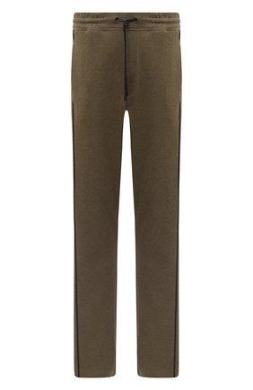 Мужской хлопковые брюки CROW'S EYE зеленого цвета, арт. LE 54 | Фото 1