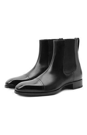 Мужские кожаные челси TOM FORD черного цвета, арт. J1140T-ANU | Фото 1