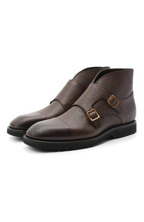 Мужские кожаные сапоги TOM FORD коричневого цвета, арт. J1246L-LCL093 | Фото 1