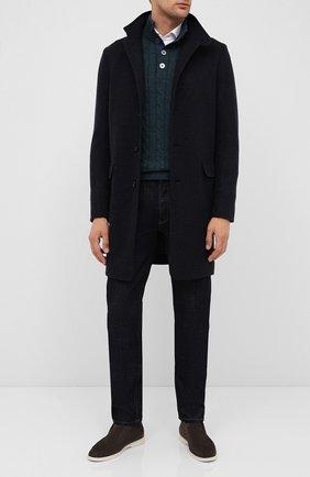 Мужской кашемировый свитер ANDREA CAMPAGNA бирюзового цвета, арт. 23151/15572 | Фото 2