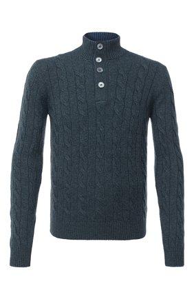 Мужской свитер из шерсти и кашемира GRAN SASSO зеленого цвета, арт. 23151/19672 | Фото 1