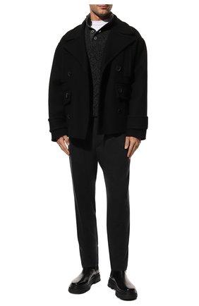 Мужской шерстяной свитер GRAN SASSO темно-серого цвета, арт. 10102/25704 | Фото 2 (Материал внешний: Шерсть; Рукава: Длинные; Длина (для топов): Стандартные; Принт: Без принта; Мужское Кросс-КТ: Свитер-одежда)