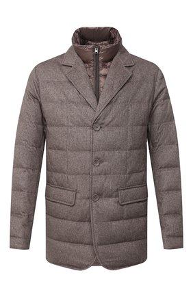 Мужская пуховая куртка HERNO темно-бежевого цвета, арт. PI0583U/38087 | Фото 1