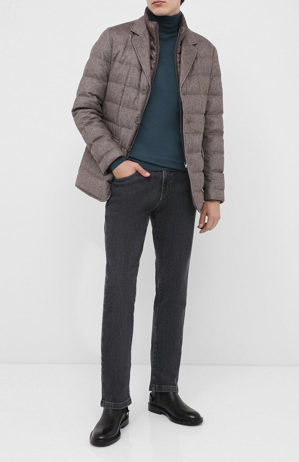 Мужская пуховая куртка HERNO темно-бежевого цвета, арт. PI0583U/38087 | Фото 2
