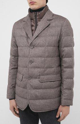 Мужская пуховая куртка HERNO темно-бежевого цвета, арт. PI0583U/38087 | Фото 3