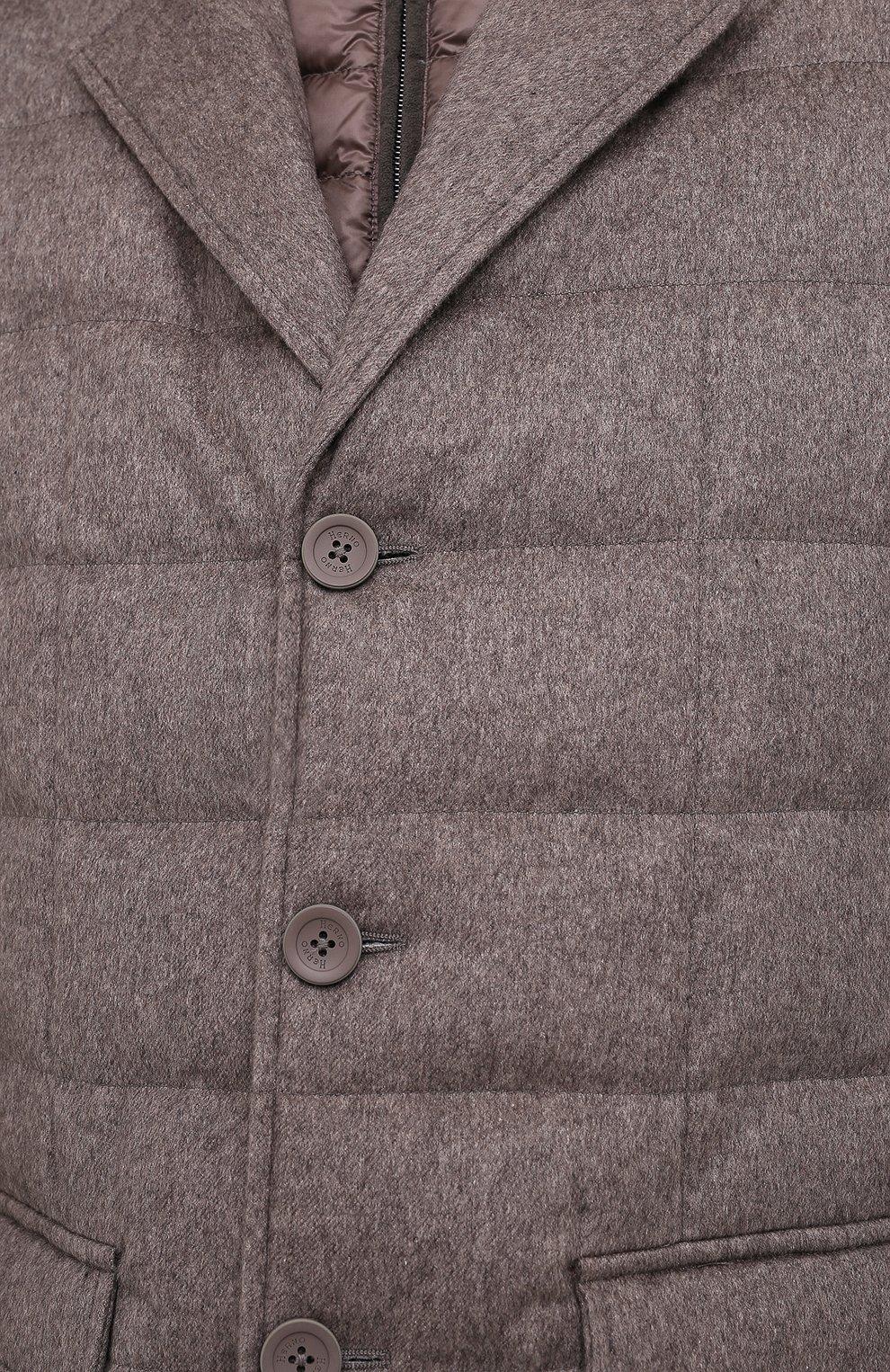 Мужская пуховая куртка HERNO темно-бежевого цвета, арт. PI0583U/38087 | Фото 5