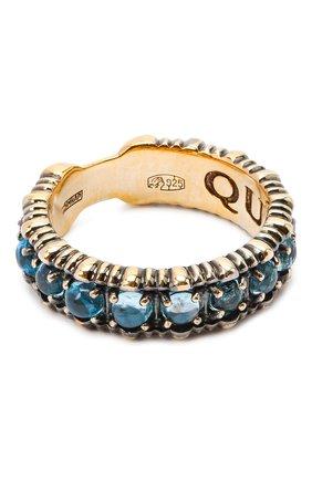 Женское кольцо small bubbles QUEENSBEE голубого цвета, арт. 102139/5,62   Фото 1