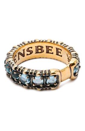 Женское кольцо small bubbles QUEENSBEE голубого цвета, арт. 102139/5,62   Фото 2
