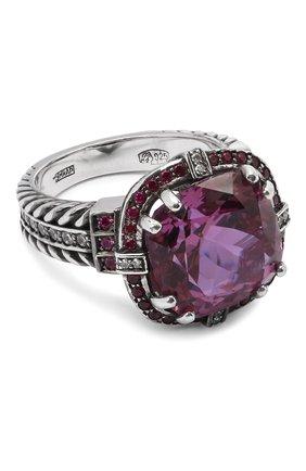 Женское кольцо stone flower ring QUEENSBEE сиреневого цвета, арт. 101312/12,61   Фото 1