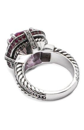 Женское кольцо stone flower ring QUEENSBEE сиреневого цвета, арт. 101312/12,61   Фото 2