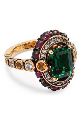 Женское кольцо QUEENSBEE разноцветного цвета, арт. 102240/8,72   Фото 1