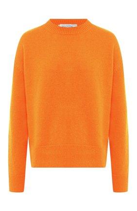 Женская кашемировый свитер VALENTINO оранжевого цвета, арт. UB3KCB395MJ   Фото 1