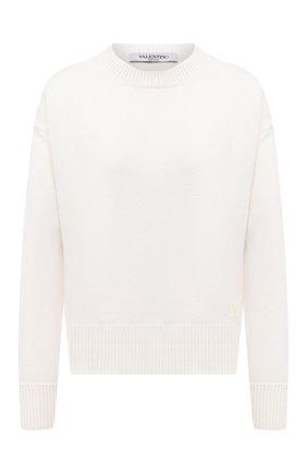 Женская кашемировый свитер VALENTINO белого цвета, арт. UB3KCB395MJ   Фото 1
