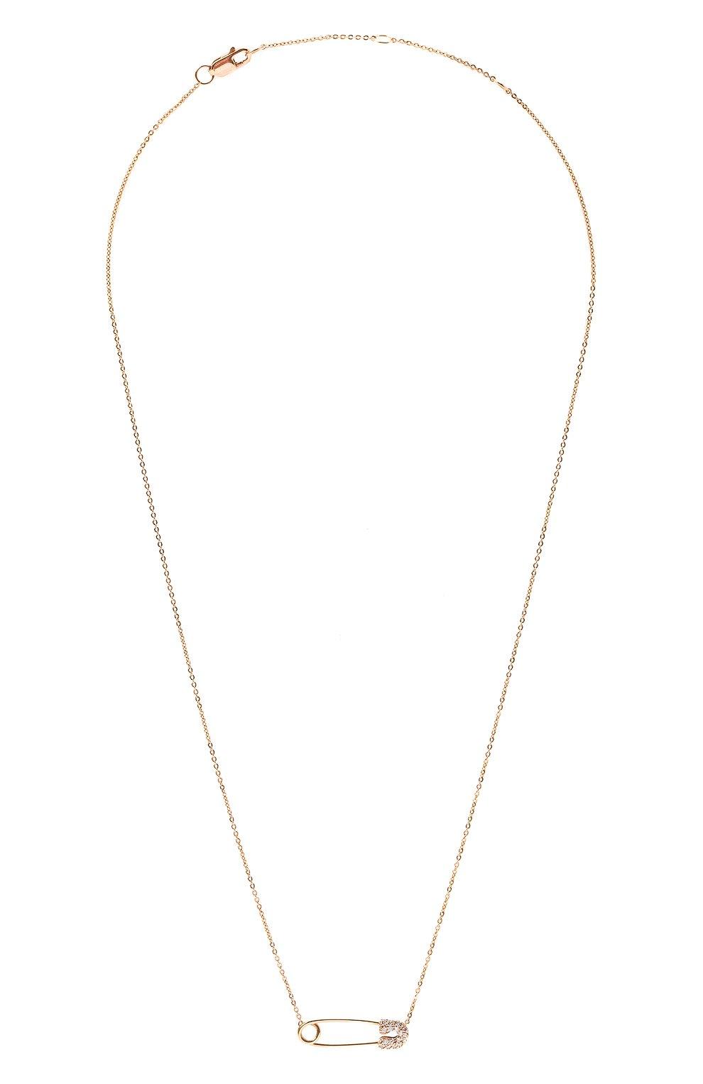 Женская колье J-POINT золотого цвета, арт. ИПГ857.54.010719.8P | Фото 1 (Материал: Золото)