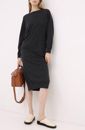 Женское кашемировое платье BRUNELLO CUCINELLI черного цвета, арт. M2E811A90P | Фото 2