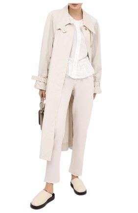 Женские джинсы BRUNELLO CUCINELLI белого цвета, арт. MPH43P5524 | Фото 2