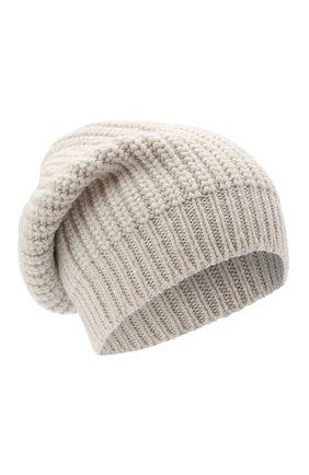 Женская кашемировая шапка BRUNELLO CUCINELLI бежевого цвета, арт. M32373999P | Фото 1