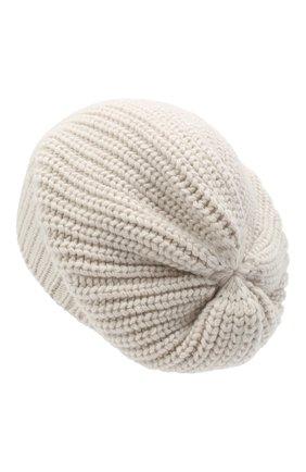 Женская кашемировая шапка BRUNELLO CUCINELLI бежевого цвета, арт. M32373999P | Фото 2