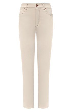 Женские джинсы BRUNELLO CUCINELLI бежевого цвета, арт. M0H43P5574 | Фото 1