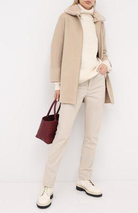 Женские джинсы BRUNELLO CUCINELLI бежевого цвета, арт. M0H43P5574 | Фото 2