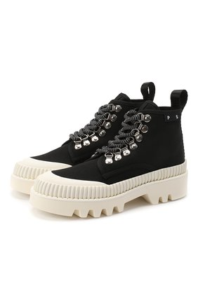 Женские текстильные ботинки lug sole PROENZA SCHOULER черного цвета, арт. PS32051A/09226 | Фото 1