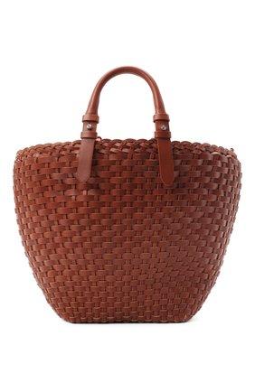 Женская сумка-шопер GIORGIO ARMANI коричневого цвета, арт. Y1A196/YTF0E | Фото 1