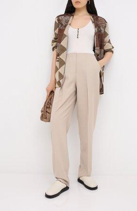 Женские брюки GIORGIO ARMANI бежевого цвета, арт. 0WHPP0DG/T01V0   Фото 2