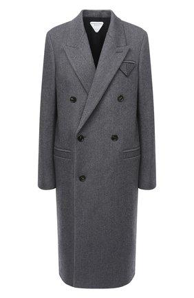 Женское шерстяное пальто BOTTEGA VENETA серого цвета, арт. 628724/VKUU0 | Фото 1