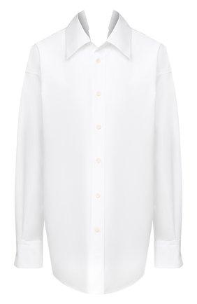 Женская хлопковая рубашка MARNI белого цвета, арт. CAMAW37A01/TCY67 | Фото 1