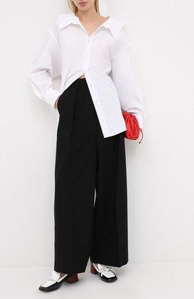 Женская хлопковая рубашка MARNI белого цвета, арт. CAMAW37A01/TCY67 | Фото 2