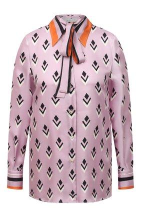 Женская шелковая блузка VALENTINO розового цвета, арт. UB3AB18S5LB   Фото 1