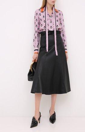 Женская шелковая блузка VALENTINO розового цвета, арт. UB3AB18S5LB   Фото 2