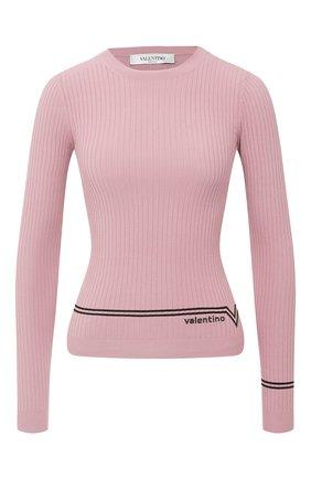 Женская пуловер из вискозы VALENTINO розового цвета, арт. UB3KC15V5NR   Фото 1