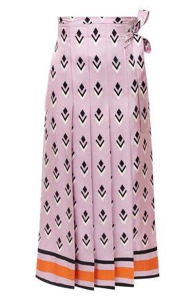 Женская шелковая юбка VALENTINO розового цвета, арт. UB3RA6275LB | Фото 1
