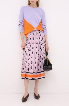 Женская шелковая юбка VALENTINO розового цвета, арт. UB3RA6275LB | Фото 2