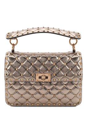 Женская сумка valentino garavani rockstud spike medium VALENTINO бронзового цвета, арт. UW2B0122/UQZ   Фото 1