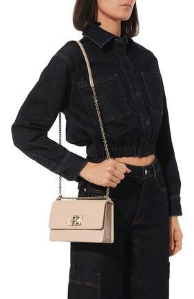 Женская сумка furla 1927 mini FURLA кремвого цвета, арт. BAFKACO/ARE000   Фото 2