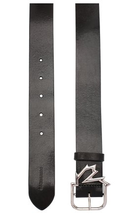 Женский кожаный ремень DSQUARED2 черного цвета, арт. BEW0191 12900001 | Фото 2