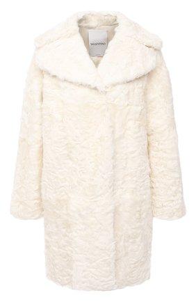 Женская шуба из меха овчины VALENTINO белого цвета, арт. UF3FA419CAF | Фото 1