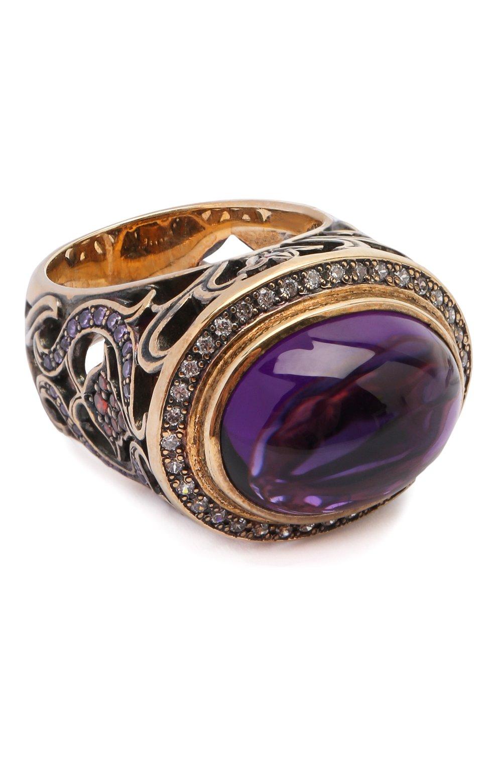 Женское кольцо oval flower QUEENSBEE разноцветного цвета, арт. 102050/16,85   Фото 1