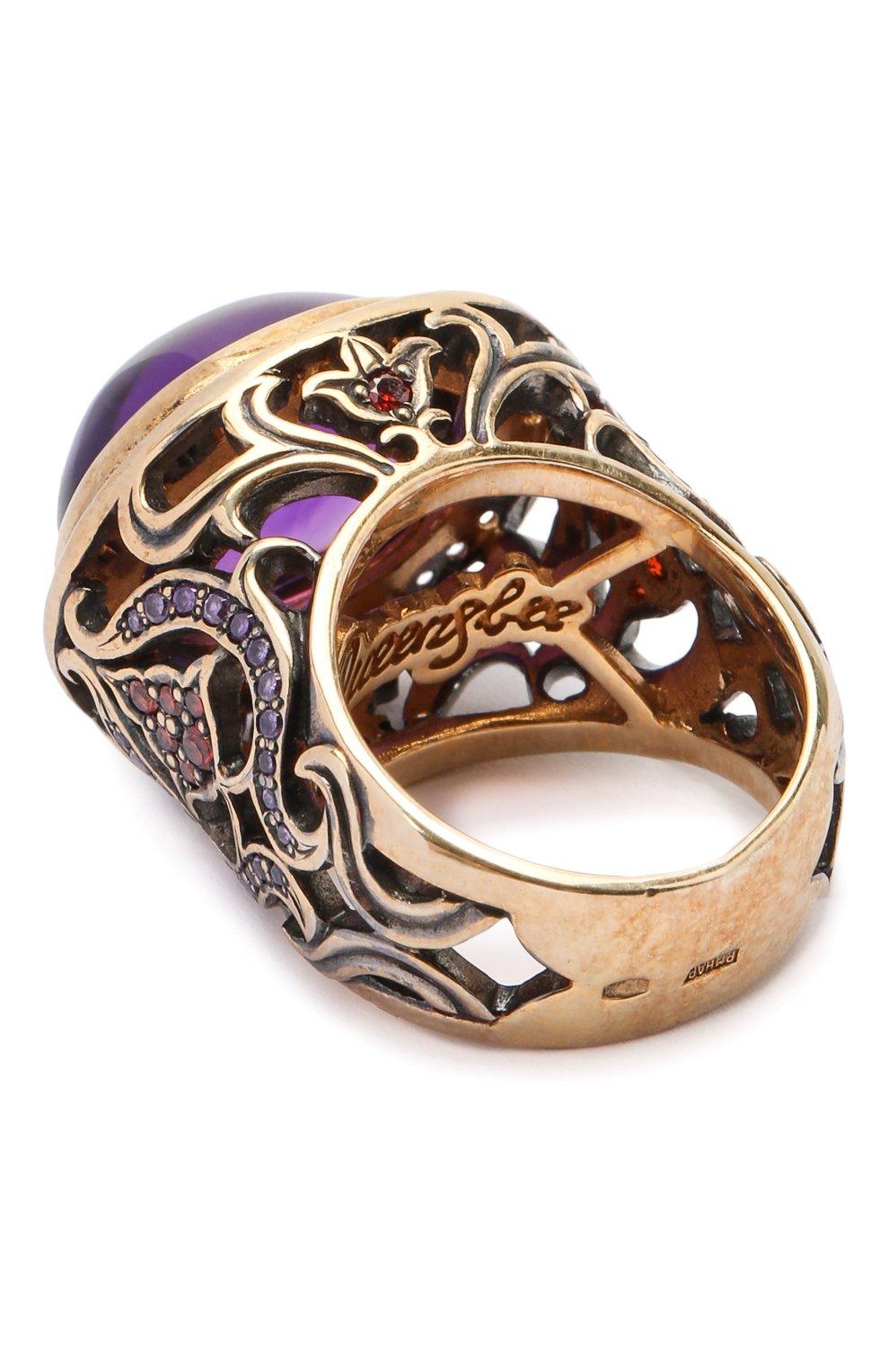 Женское кольцо oval flower QUEENSBEE разноцветного цвета, арт. 102050/16,85   Фото 2