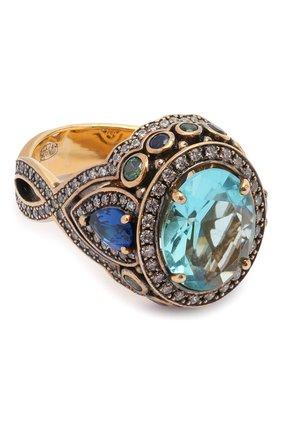 Женское кольцо splash QUEENSBEE голубого цвета, арт. 102316/9,36   Фото 1