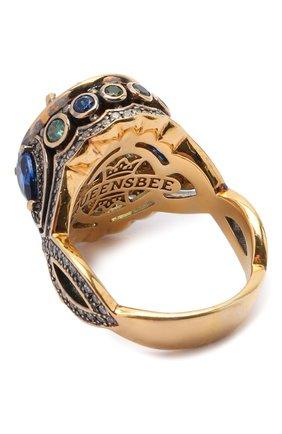 Женское кольцо splash QUEENSBEE голубого цвета, арт. 102316/9,36   Фото 2